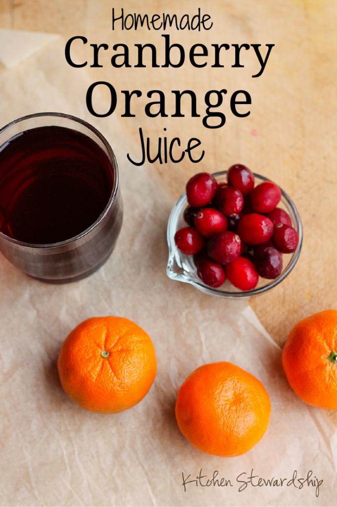 Homemade Cranberry Orange Juice