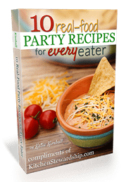 Looking for some party foods made with real food for the Big Game this weekend? Click here for 10 Real Food Party Recipes for Every Eater - FREE download
