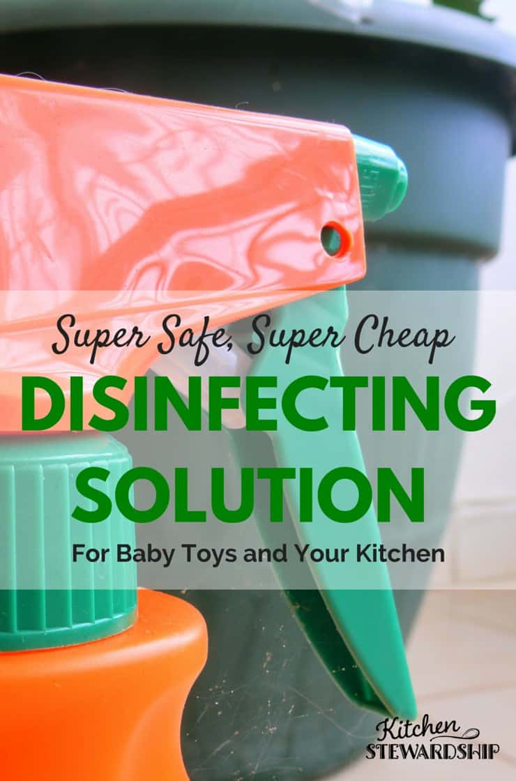 Cleaning baby toys naturally