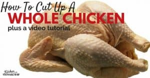 Have you ever wondered how to quickly get the breast meat off a whole chicken? Check out this post with step-by-step photo instructions AND a video tutorial to cut up a whole chicken.