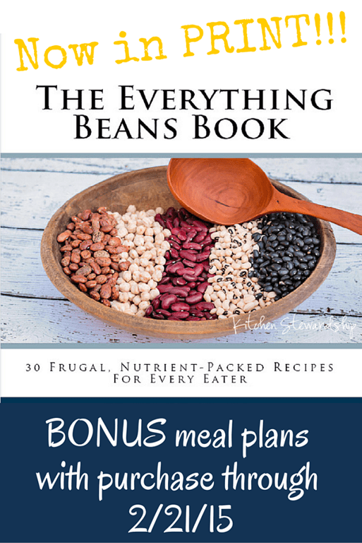 The Everything Beans Book NOW IN PRINT w bonus meal plans and date