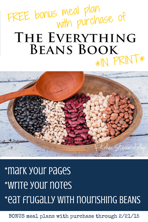 The Everything Beans Book in print w free meal plan and notes