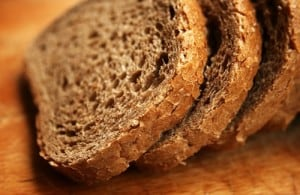 Fresh sliced soaked whole wheat bread is a great choice for your body - make this recipe with a breadmaker today!