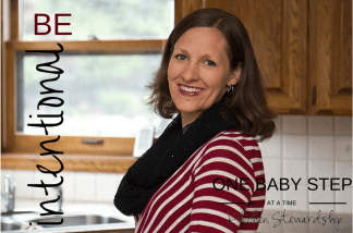 Take one solid baby step right now to be more intentional about your parenting and your home - it really works to make a difference in family life!