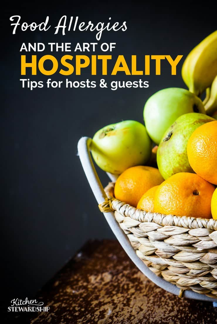 Food Allergies and the art of hospitality