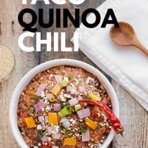 Taco Quinoa Chili (Meatless) Recipe