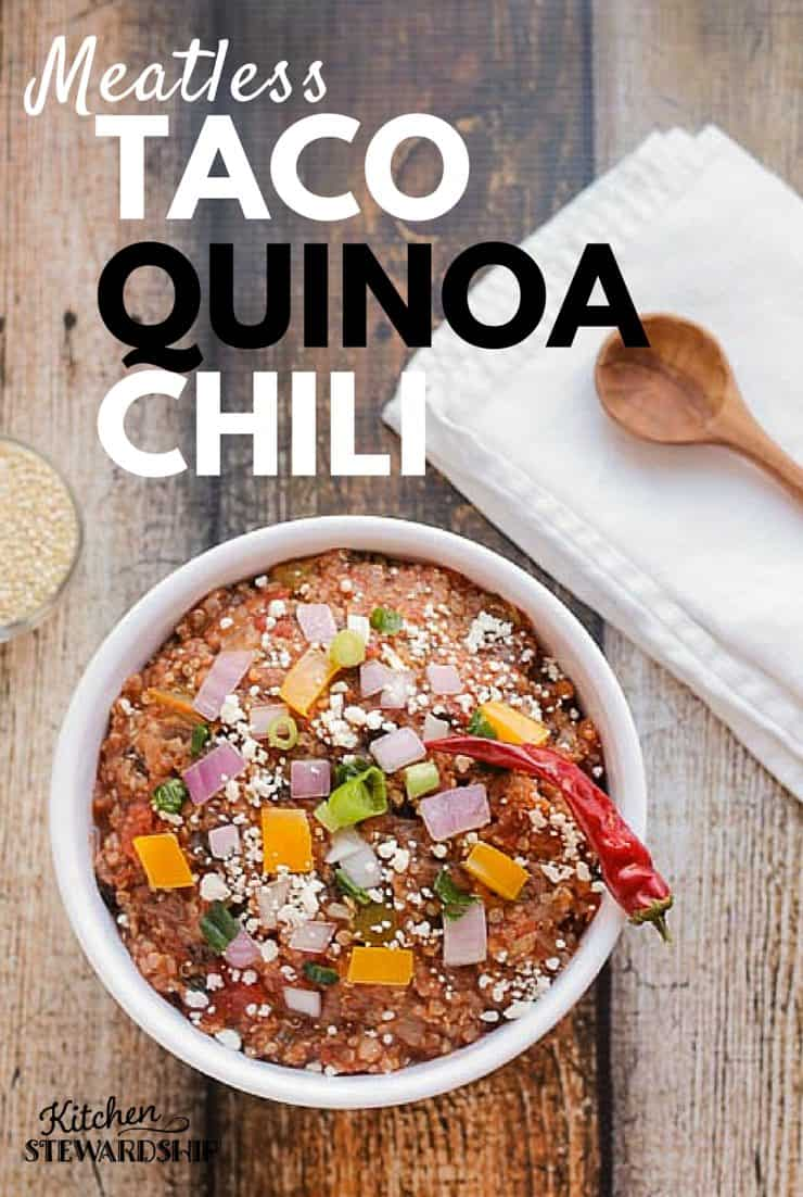 Meatless Taco Quinoa Chili