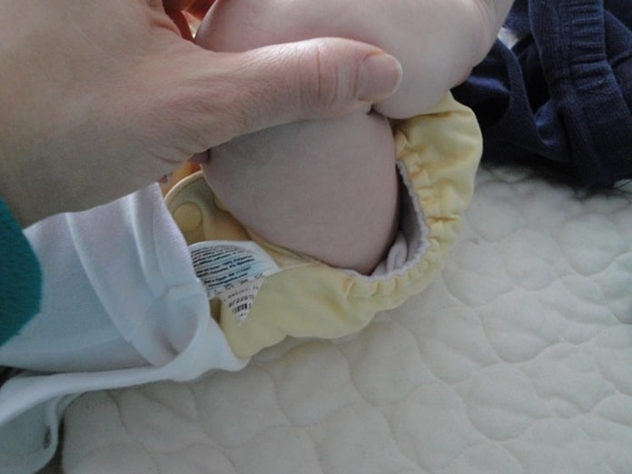 Bum Genius cloth diaper fits after two years