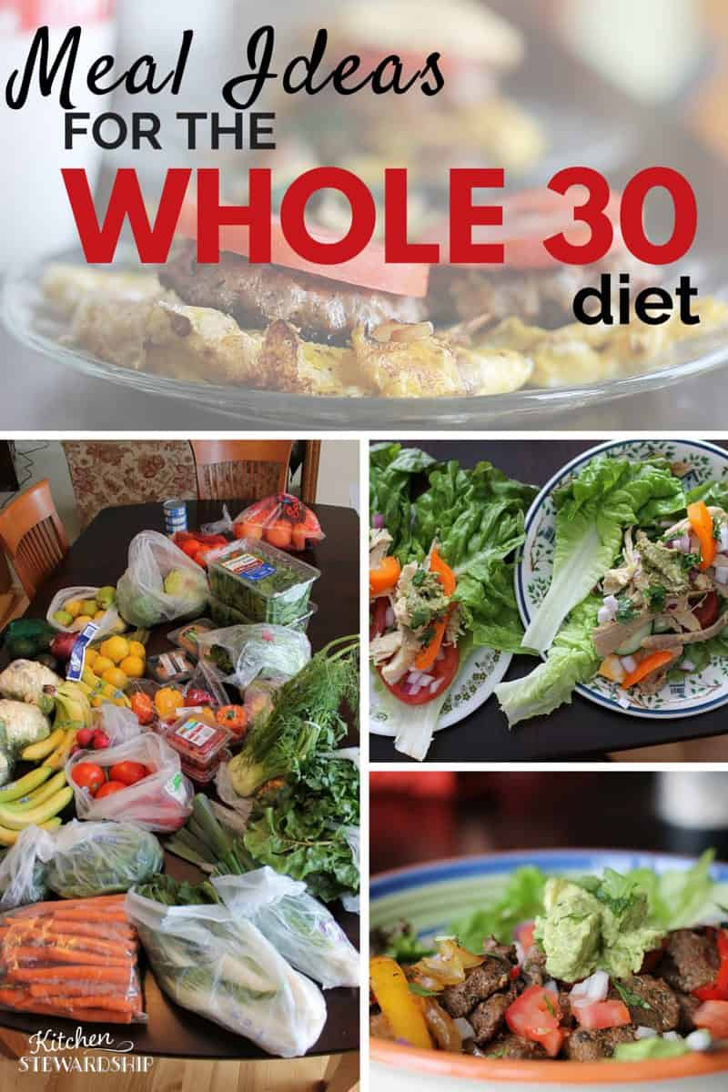 Be intentional about your food choices with these WHOLE30 diet meal ideas. A real life Whole30 meal plan with recipes to help you get started.