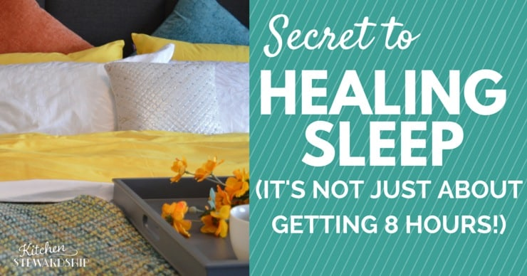 Secret to Healing Sleep Its NOT just about getting 8 hours Horizontal
