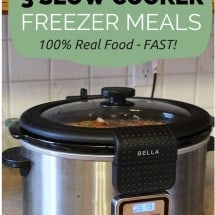 Freezer Cooking is not my Thing – but Here's my Best Shot Anyway {VIDEO + 3 Slow Cooker Recipes}
