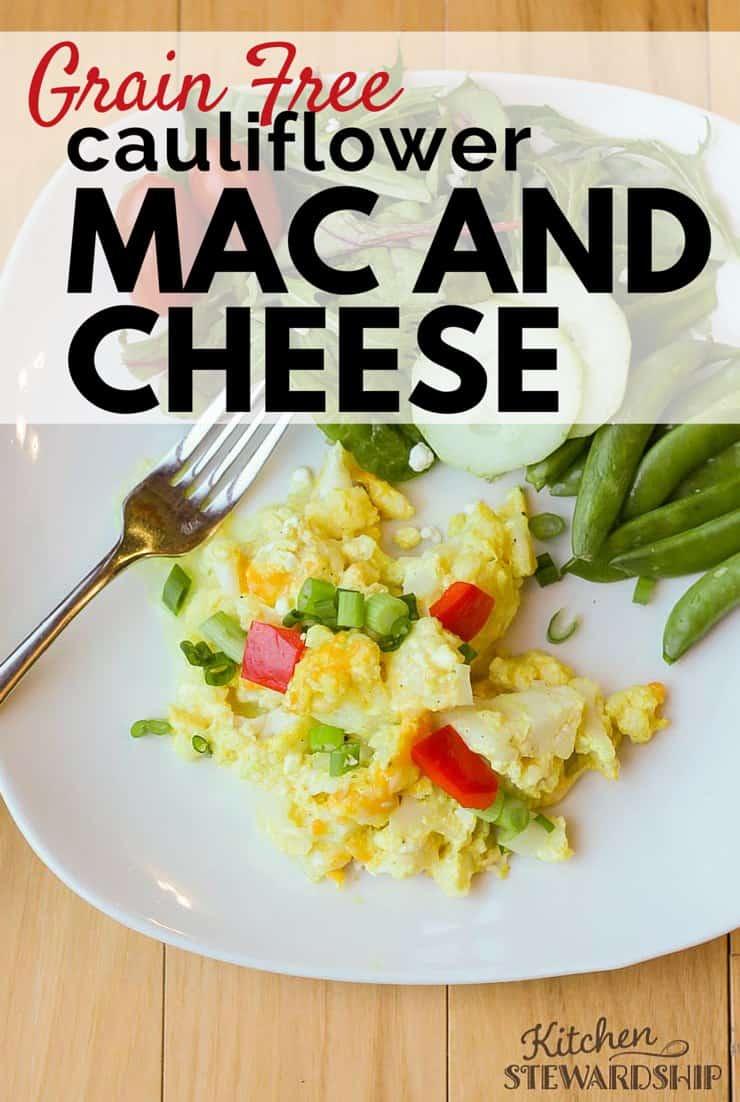 Grain Free Cauliflower Mac And Cheese