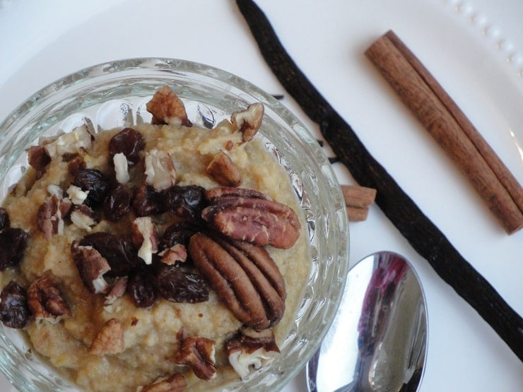 Grain free Pumpkin Pecan Breakfast Porridge