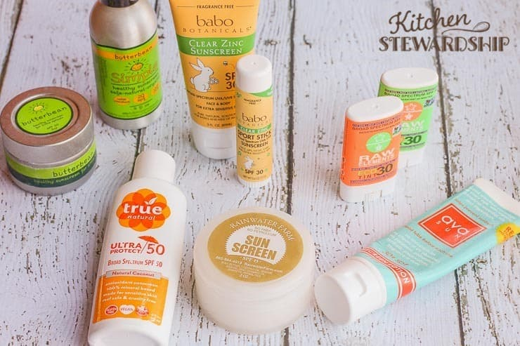 Safer alternative to conventional (dangerous!) spray sunscreens - facial sticks, tubs, zinc-based sprays.
