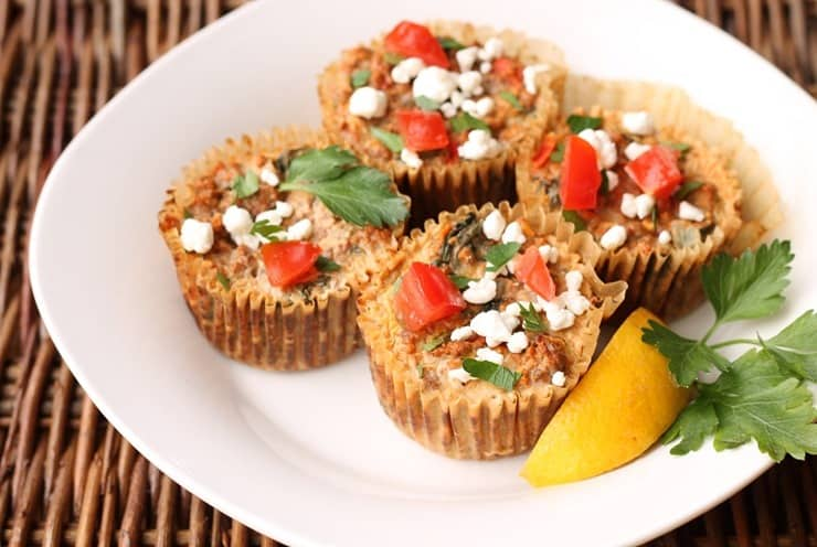 Pizza or Greek Meat Muffins can be Paleo and Whole 30