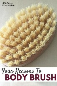 Have you heard of body brushing? I've got four great reasons for you to give it a try!