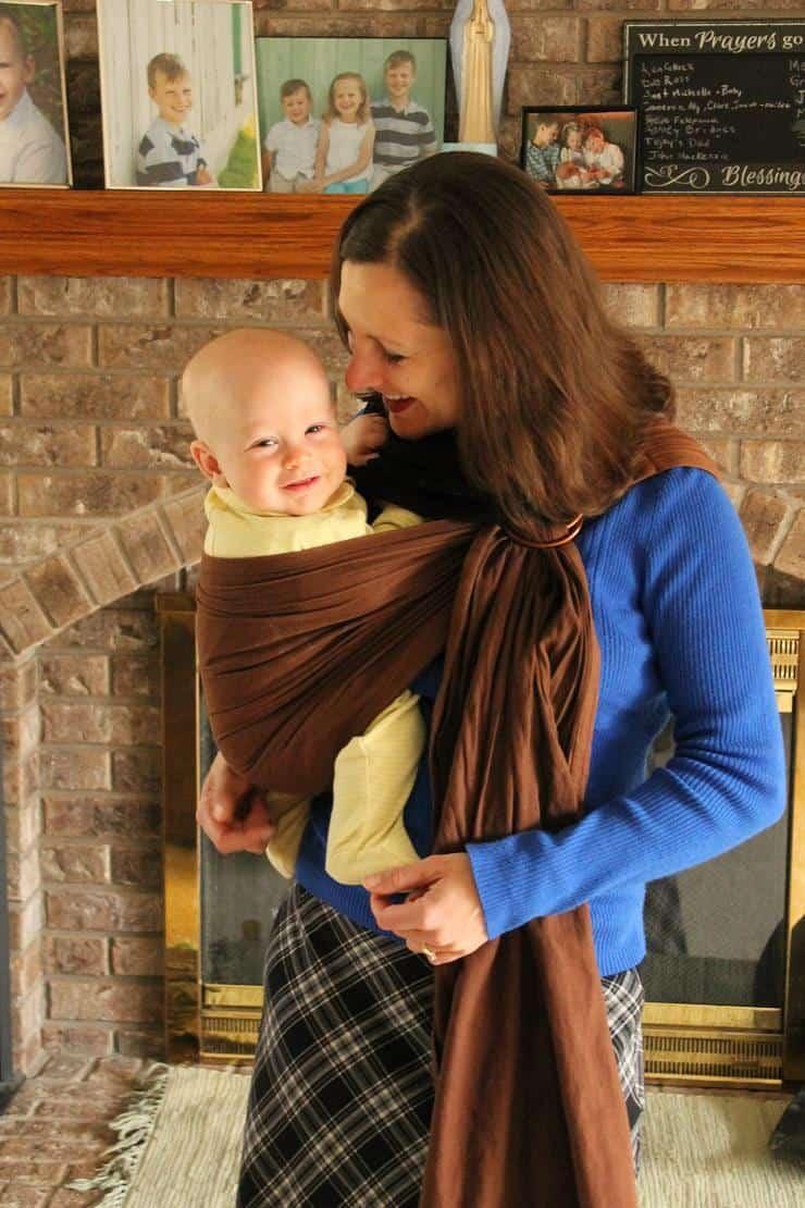 Babywearing - homemade ring sling