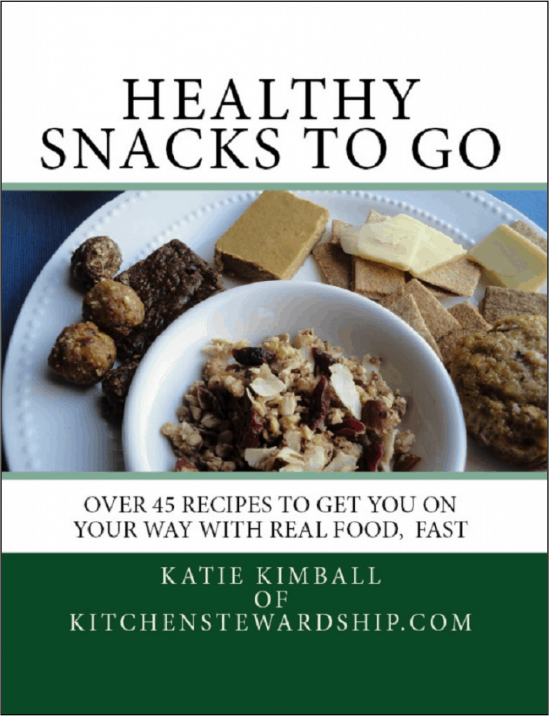 Healthy Snacks to Go - over 45 healthy snack recipes!