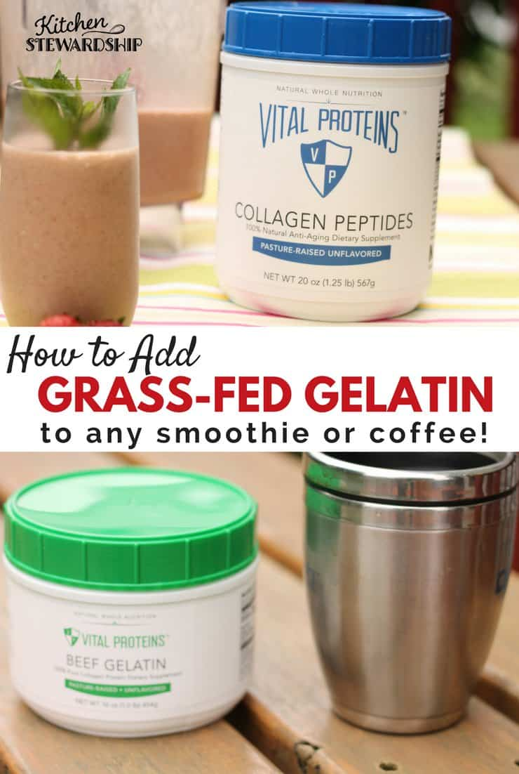 How to Add gelatin to smoothies