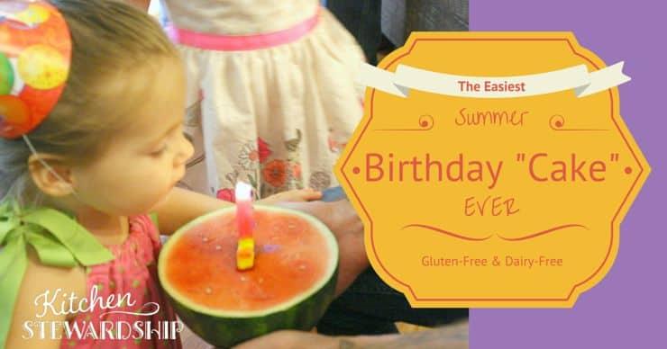 The Easiest Gluten Free Dairy Summer Birthday Cake Ever