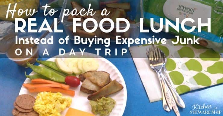 How to pack a Real Food Lunch Instead of Buying Expensive Junk When Traveling