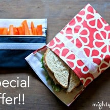 Screaming Crunchy Deal – $5 for TWO Reusable Sandwich Bags + Free Shipping from Mighty Nest
