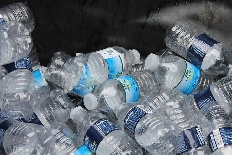 Recycling hundreds of water bottles from school walk a thon