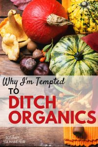 Why I'm Tempted To Ditch the Organic Foods Movement. Organic produce is considered to be the epitome of healthy perfection. But find out what changed my mind and why I'm tempted to ditch the organic section of the grocery store.