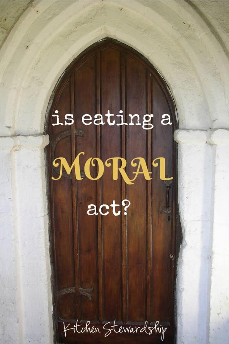 Is eating a Moral Act