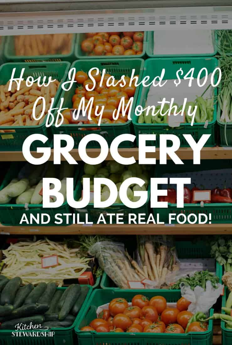 How I Slashed 400 Off My monthly grocery budget pinterest