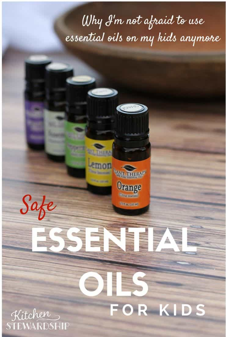 Safe Essential Oils for Kids - list of 5 essential oils and hydrosols for infants and babies plus a chart of best recommended oils for children and how to use them