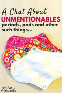 Ever heard of reusable menstrual care products? Curious how to find a bra that fits and which one is healthiest for your body? Let's talk about unmentionables.