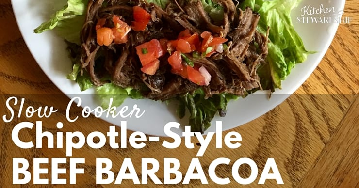 slow cooker or instant pot chipotle beef barbacoa recipe