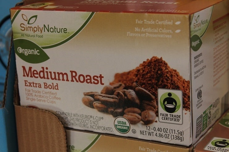 ALDI Simply Nature organic fair trade coffee