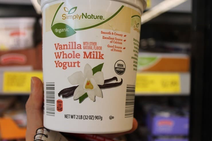 ALDI Simply Nature organic vanilla whole milk yogurt
