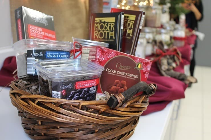 ALDI chocolate and goodies holiday gift basket