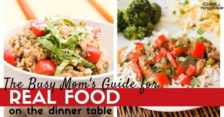 Beyond just meal planning for busy families - you CAN eat real food with little time, you just have to be prepared and have some easy strategies to make it all work.