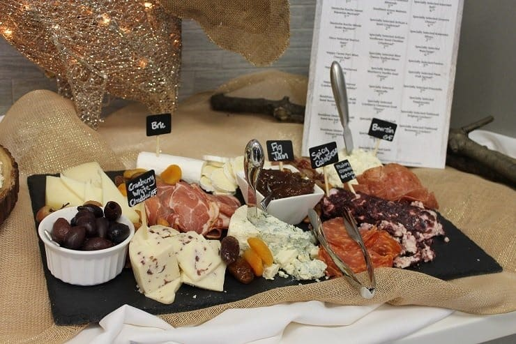 ALDI meat, cheese, olives and spreads holiday party platters