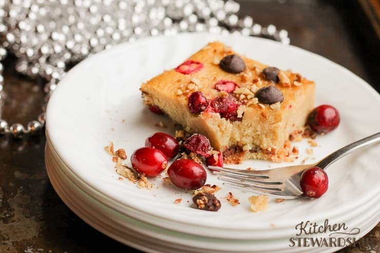 Cardamom Cranberry Christmas Cake grain free and delicious