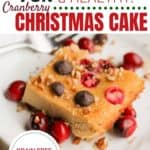 Grain- Free Cardamom Christmas Cake - whip it up in just 5 minutes for moist and delicious! Healthy enough for breakfast!
