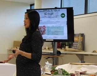Chef Brigitte Nguyen's presentation