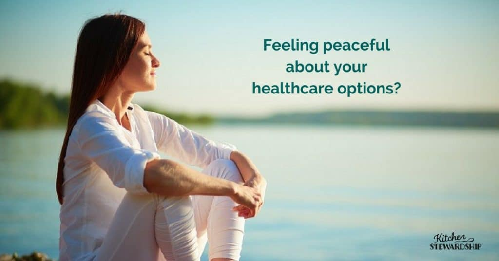 feeling peaceful about your healthcare options