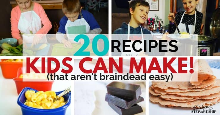 Recipes that Kids can make that arent braindead easy