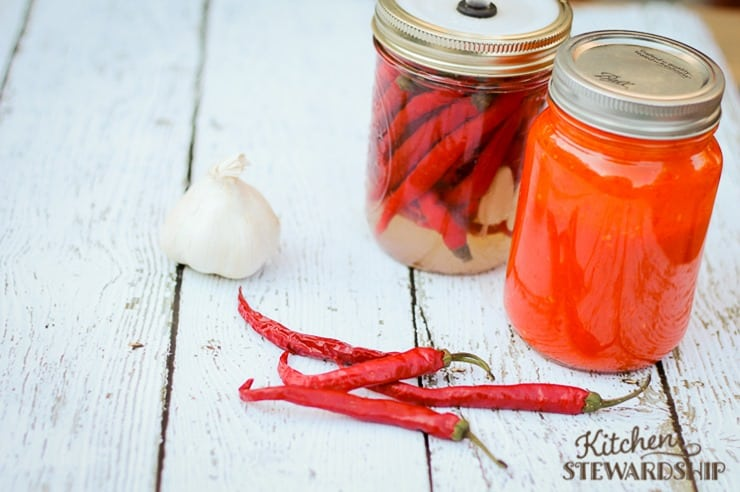 Homemade Cayenne Pepper Hot Sauce like Franks