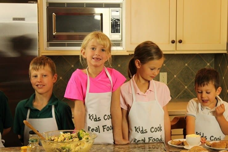 Kids making creative dishes in the kitchen a whole dinner made by kids