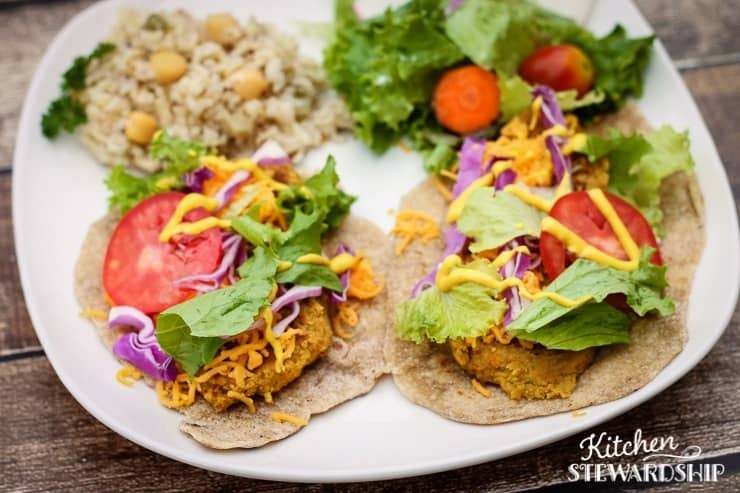 Meatless Chickpea Wraps