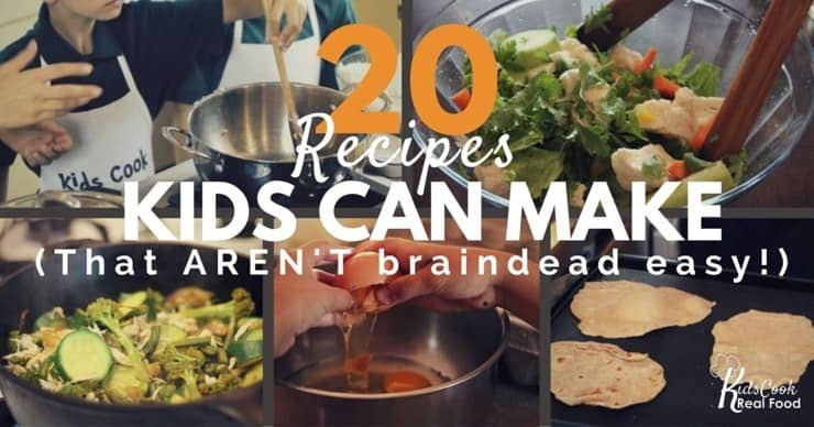9 Recipes Kids Can Make. Hand that apron over to the little ones, and let them give it a go in the kitchen. 1 20 Fast Dinner Ideas Our ideas for quick and easy suppers are wholesome, almost entirely homemade, and affordable, too Food. Food See all Food.