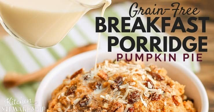 grain-free pumpkin pie breakfast porridge