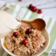 Instant Pot Breakfast: Apple Cranberry Steel Cut Oats