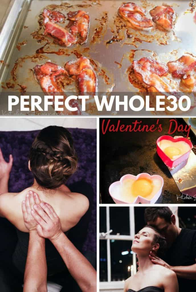 WHOLE30 Valentine's Day Date Night - when you can't have wine or chocolate, here are some ways to still have a romantic evening with your spouse.